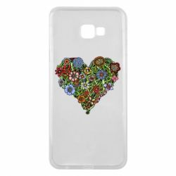Чехол для Samsung J4 Plus 2018 Flower heart - FatLine