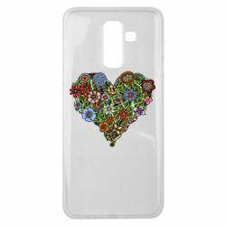 Чехол для Samsung J8 2018 Flower heart - FatLine