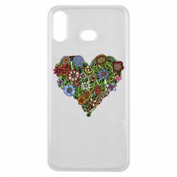 Чохол для Samsung A6s Flower heart