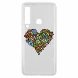 Чехол для Samsung A9 2018 Flower heart - FatLine