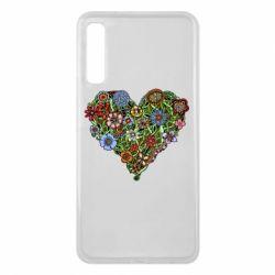 Чехол для Samsung A7 2018 Flower heart - FatLine