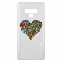 Чехол для Samsung Note 9 Flower heart - FatLine
