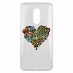 Чехол для Meizu 16 plus Flower heart - FatLine