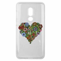 Чехол для Meizu V8 Flower heart - FatLine