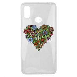 Чехол для Xiaomi Mi Max 3 Flower heart - FatLine
