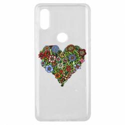 Чехол для Xiaomi Mi Mix 3 Flower heart - FatLine