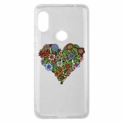 Чехол для Xiaomi Redmi Note 6 Pro Flower heart - FatLine