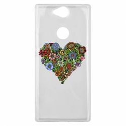 Чехол для Sony Xperia XA2 Plus Flower heart - FatLine