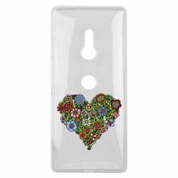 Чехол для Sony Xperia XZ3 Flower heart - FatLine