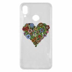 Чехол для Huawei P Smart Plus Flower heart - FatLine
