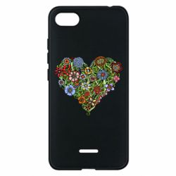 Чехол для Xiaomi Redmi 6A Flower heart - FatLine