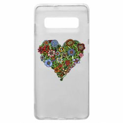 Чохол для Samsung S10+ Flower heart