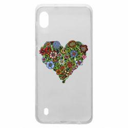 Чохол для Samsung A10 Flower heart