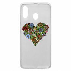 Чохол для Samsung A20 Flower heart