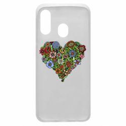 Чохол для Samsung A40 Flower heart