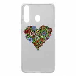 Чохол для Samsung A60 Flower heart