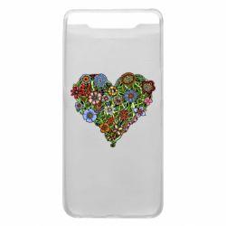 Чохол для Samsung A80 Flower heart
