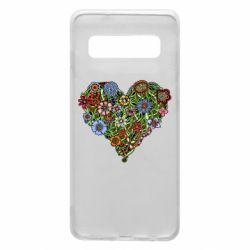 Чохол для Samsung S10 Flower heart