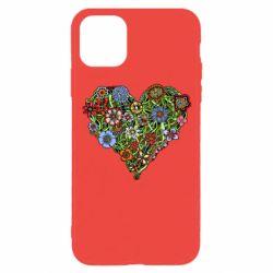 Чохол для iPhone 11 Pro Flower heart