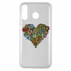 Чохол для Samsung M30 Flower heart