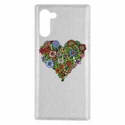 Чохол для Samsung Note 10 Flower heart