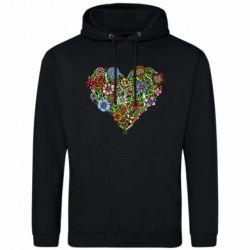 Мужская толстовка Flower heart - FatLine