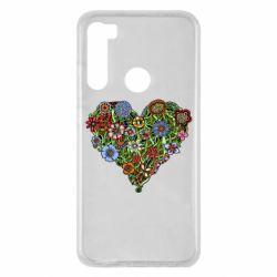 Чохол для Xiaomi Redmi Note 8 Flower heart
