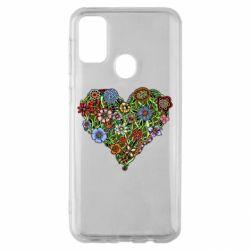 Чохол для Samsung M30s Flower heart