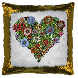Подушка-хамелеон Flower heart