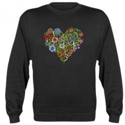 Реглан (свитшот) Flower heart - FatLine