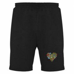 Мужские шорты Flower heart - FatLine