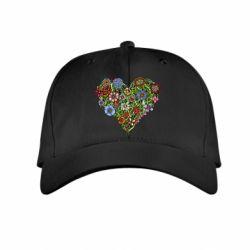 Дитяча кепка Flower heart
