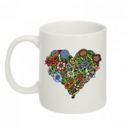 Кружка 320ml Flower heart - FatLine