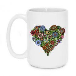 Кружка 420ml Flower heart