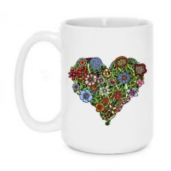 Кружка 420ml Flower heart - FatLine