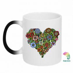 Кружка-хамелеон Flower heart - FatLine