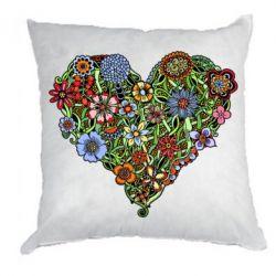 Подушка Flower heart