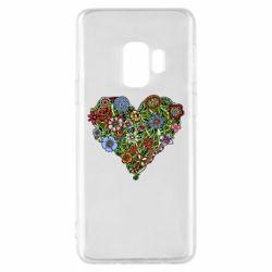 Чохол для Samsung S9 Flower heart