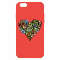 Чехол для iPhone 6/6S Flower heart - FatLine