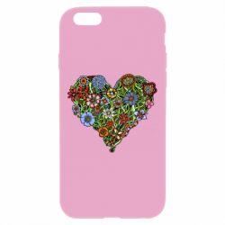 Чехол для iPhone 6 Plus/6S Plus Flower heart - FatLine