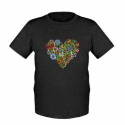 Дитяча футболка Flower heart
