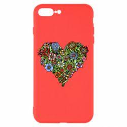 Чехол для iPhone 8 Plus Flower heart - FatLine