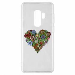 Чехол для Samsung S9+ Flower heart - FatLine