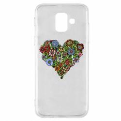 Чохол для Samsung A6 2018 Flower heart