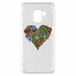 Чохол для Samsung A8 2018 Flower heart