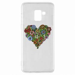 Чехол для Samsung A8+ 2018 Flower heart - FatLine