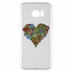 Чехол для Samsung S7 EDGE Flower heart - FatLine