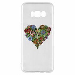 Чехол для Samsung S8 Flower heart - FatLine