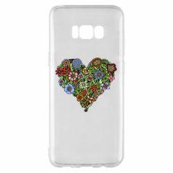 Чохол для Samsung S8+ Flower heart