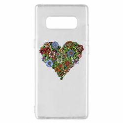 Чехол для Samsung Note 8 Flower heart - FatLine